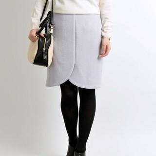 シップス(SHIPS)の【SHIPS Khaju】膝丈チューリップスカート/ラベンダー色(ひざ丈スカート)