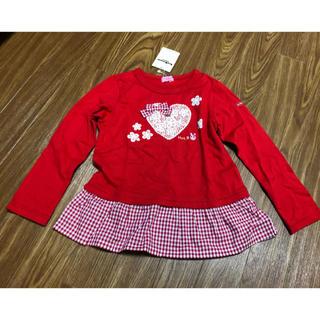 ホットビスケッツ(HOT BISCUITS)のミキハウスのロンT 赤(Tシャツ/カットソー)