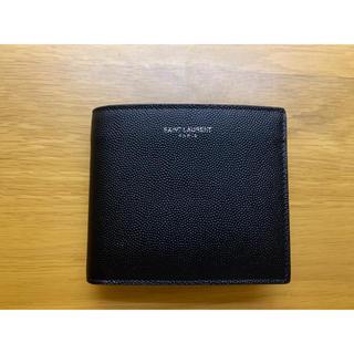サンローラン(Saint Laurent)のサンローラン メンズ 折り財布 ブラック コンパクトウォレット(折り財布)