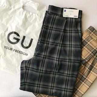 GU - GU タータンチェックパンツ