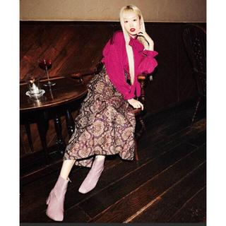 リリーブラウン(Lily Brown)のlily brown ジャガードロングスカート(ロングスカート)