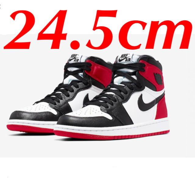 NIKE(ナイキ)のAIR JORDAN 1 RETRO HIGH SATIN BLACK TOE レディースの靴/シューズ(スニーカー)の商品写真