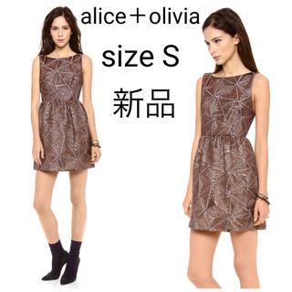 アリスアンドオリビア(Alice+Olivia)の新品 alice+olivia メタリック ジャカード ワンピース ドレス(ミニワンピース)
