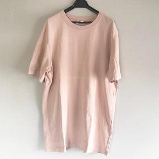 UNIQLO - 【 ユニクロ 美品 肉厚 】 おしゃれ女子受け抜群^ ^ ピンク Tシャツ
