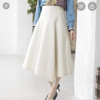 ANAYI - 2019年製   ANAYI ダブルクロスアシメフレアスカート