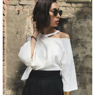 アメリヴィンテージ(Ameri VINTAGE)の新品タグ付 アメリヴィンテージ MEDI SLIT OVER BIG TEE(Tシャツ(半袖/袖なし))