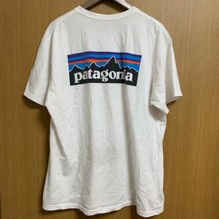 patagonia - パタゴニア Tシャツ ロゴT 定番 白 Lサイズ レギュラーフィット