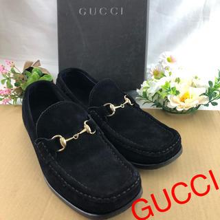 グッチ(Gucci)の❣️正規品❣️ GUCCI グッチ スエード ローファー ブラック レディース(ローファー/革靴)