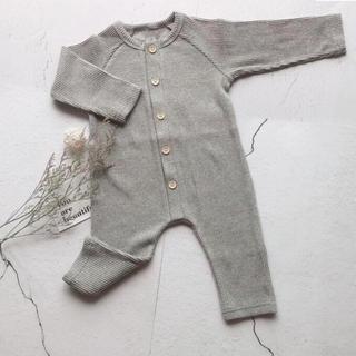 babyGAP - 新品  韓国子供服 ロンパース ジャンプスーツ リブロンパース 長袖  新生児