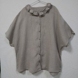 ネストローブ(nest Robe)のkiki様nest robe ネストローブ フリル襟リネンブラウス 美品(シャツ/ブラウス(半袖/袖なし))