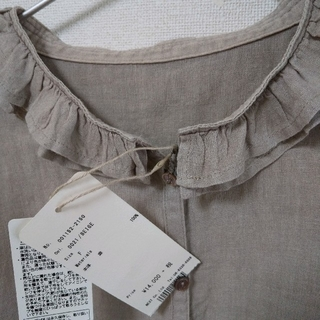 nest Robe - nest robe ネストローブ フリル襟リネンブラウス 美品