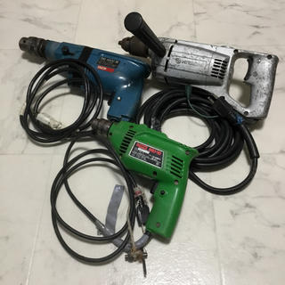 ジャンク品 電気ドリル 3点セット 未動作品(工具/メンテナンス)