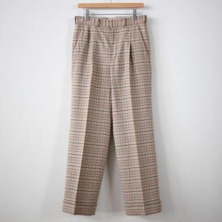 COMOLI - auralee silk summer tweed slacks