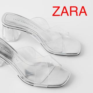 ZARA - 週末限定値下げ ZARA ジオメトリックヒール仕様ビニールサンダル