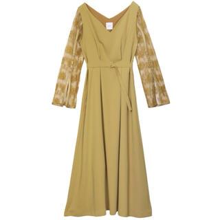 Ameri VINTAGE - LACE SLEEVE REFINED DRESS 売り切り希望