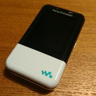 ソニー(SONY)のXmini au W65S ターコイズブルー 新品(携帯電話本体)