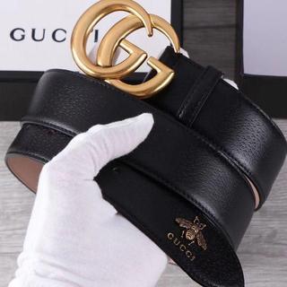 Gucci - Gucci  ベルト3.5CM ブロンズ
