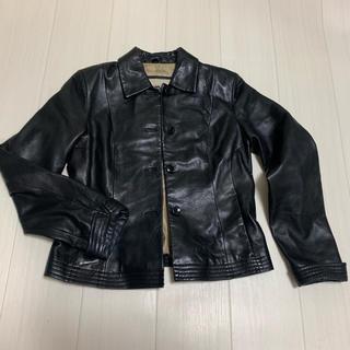 エンゾーアンジョリーニ(Enzo Angiolini)のEnzo 黒のレザージャケット(テーラードジャケット)