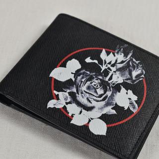 クリスチャンディオール(Christian Dior)のDior ディオール オム ホワイトローズ 折財布(折り財布)
