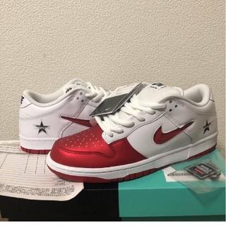シュプリーム(Supreme)の新品 白赤US9 27cm Supreme Nike SB Dunk Low(スニーカー)