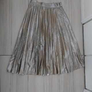 ZARA - ZARAゴールドプリーツスカート