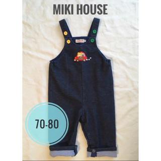 mikihouse - ミキハウス オーバーオール デニム風 70-80