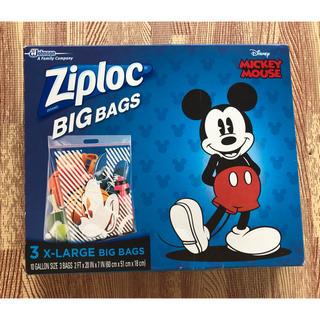 ディズニー(Disney)のZiploc Big Bag 【限定ミッキーマウス柄】 2枚(その他)