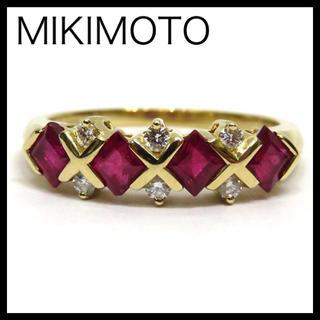 ミキモト(MIKIMOTO)のMIKIMOTO ミキモト K18YGルビー・ダイヤモンドリング 約13号 指輪(リング(指輪))