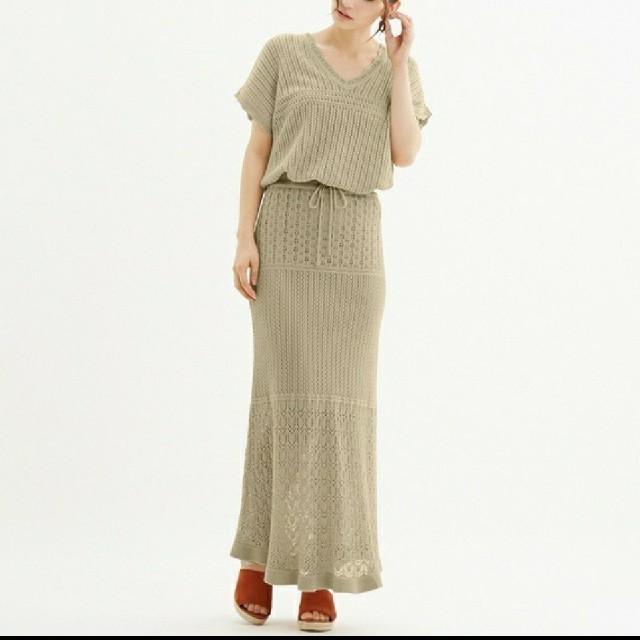 透かし 編み セーター gu