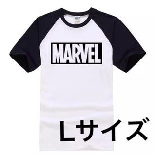 MARVEL - 再入荷! MARVEL ラグランTシャツ Lサイズ ブラック マーベル