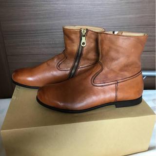 シップス(SHIPS)の☆新品未使用 SHIPS シップス 日本製レザーブーツ キャメルブラウン(ブーツ)