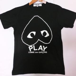 コムデギャルソンTシャツplayTシャツ男女兼用黒ハート  Mサイズ
