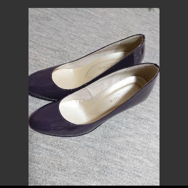 【自由ヶ丘HillsAvenue】エナメルパンプス パープル レディースの靴/シューズ(ハイヒール/パンプス)の商品写真