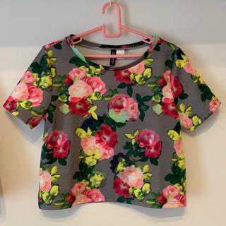 エイチアンドエム(H&M)の花柄セットアップ(Tシャツ)(Tシャツ(半袖/袖なし))