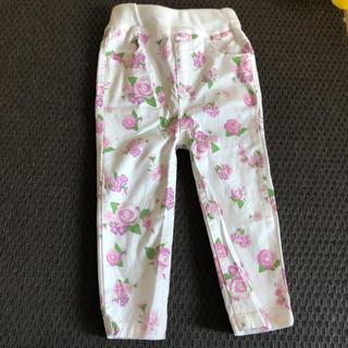 プティマイン(petit main)の花柄 パンツ 女の子 80 プティマイン 試着のみ ズボン(パンツ)
