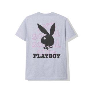 アンチ(ANTI)の【Anti social】 Playboy Grey Tee / L(Tシャツ/カットソー(半袖/袖なし))