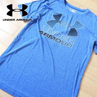 アンダーアーマー(UNDER ARMOUR)の美品 YXL アンダーアーマー キッズサイズ 半袖Tシャツ ブルー(Tシャツ/カットソー)