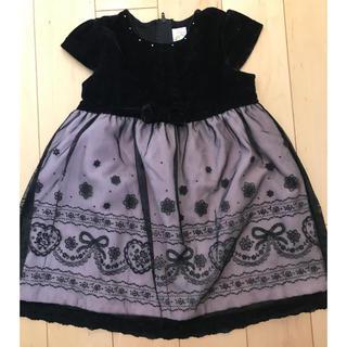マザウェイズ(motherways)の秋冬 マザウェイズ リボン ワンピース ドレス 97㎝(ワンピース)