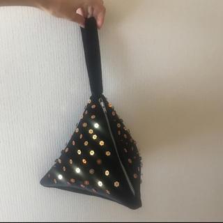 アッシュペーフランス(H.P.FRANCE)のハンドバッグ ビーズ 刺繍 ワンハンドル レア(ハンドバッグ)