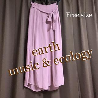 アースミュージックアンドエコロジー(earth music & ecology)のスカンツ ガウチョパンツ ワイドパンツ ピンク レディース パンツ S 〜 L(その他)