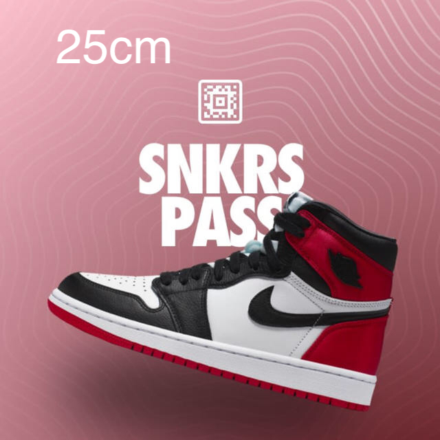 NIKE(ナイキ)のair jordan 1 satin black toe 25cm メンズの靴/シューズ(スニーカー)の商品写真