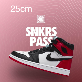 NIKE - air jordan 1 satin black toe 25cm