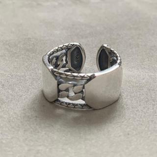 シルバー925 喜平ベルトデザイン平打ちリング silver925