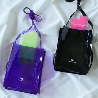 スライ(SLY)のSLY クリアポシェット 紫色(ショルダーバッグ)