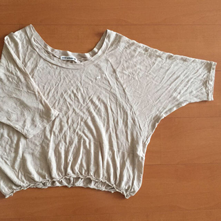 ミナペルホネン(mina perhonen)の麻混五分袖カットソー(その他)