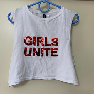 エイチアンドエム(H&M)のへそ出しTシャツ(Tシャツ(半袖/袖なし))