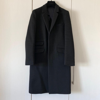 Drawer - ドゥロワー 定価28万円弱 黒 チェスターコート ブラミンク セリーヌ
