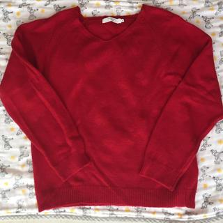 サマンサモスモス(SM2)のSM2 赤ニット(ニット/セーター)