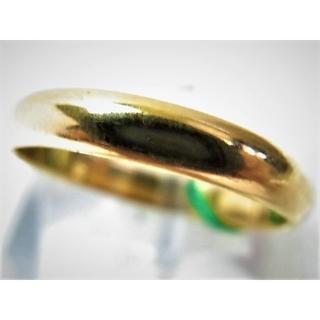 K18 18金 リング 甲丸 サイズ#17 結婚指輪 男女兼用(リング(指輪))