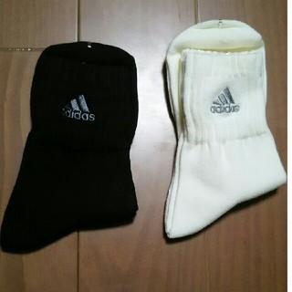アディダス(adidas)のアディダス 深口ソックス 2セット 新品未使用品(ソックス)